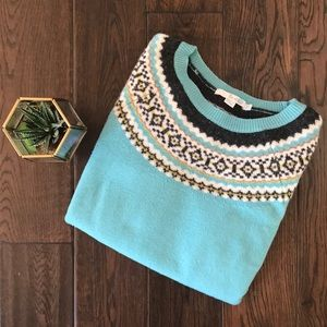 Boden fair isle soft wool sweater US size 6